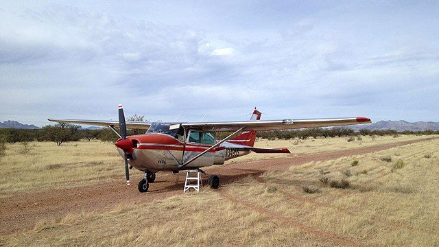 The Cessna 182, its pilot and two passengers landed safely and were waiting on fuel to be able to take off again. (Source: Pima County Sheriff's Office)