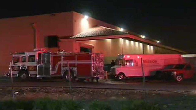 Phoenix firefighters were able to quickly extinguish a fire at this business Wednesday night. (Source: CBS 5 News)