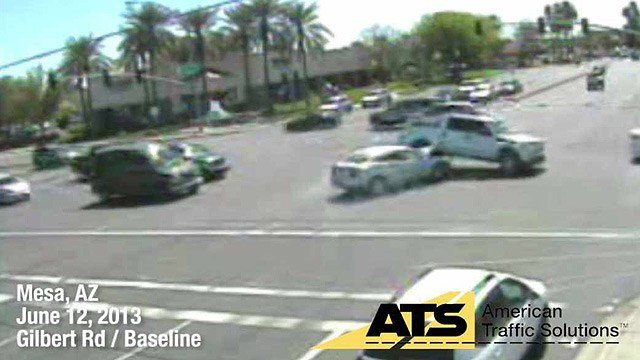 American Traffic Solutions has captured some of the worst red-light runners and crashes on Arizona streets in a new video that was just released. (Source: American Traffic Solutions)