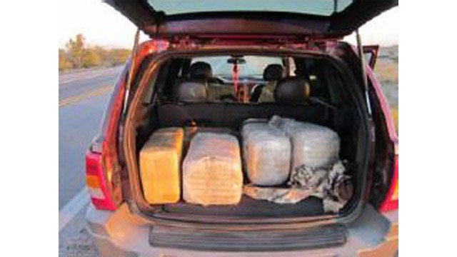 More than 200 pounds of marijuana were found in this Jeep in Pinal County on Sunday. (Source: Pinal County Sheriff's Office)