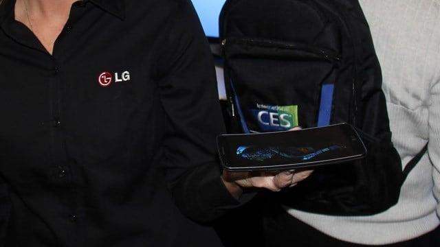 LG has a curved display phone. (Source: Ken Colburn / Data Doctors)