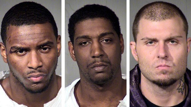 Roger Sharp, left, David Murray and Jason Beau Keep. (Source: Maricopa County Sheriff's Office)