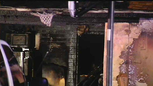 Chandler firefighters said they believe a fire that destroyed a house originated in the garage. (Source: CBS 5 News)