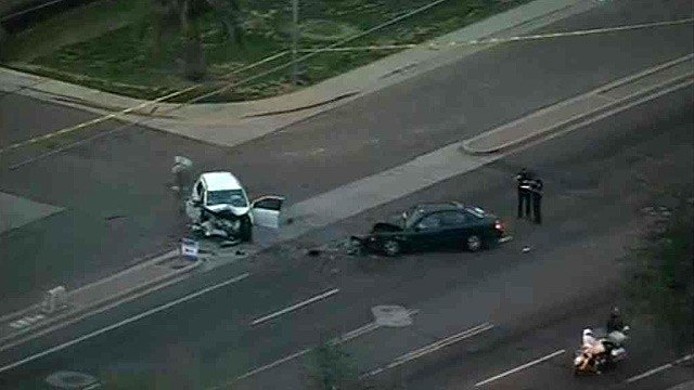 Two patients from this crash were taken to the John C. Lincoln Hospital trauma center. (Source: CBS 5 News)