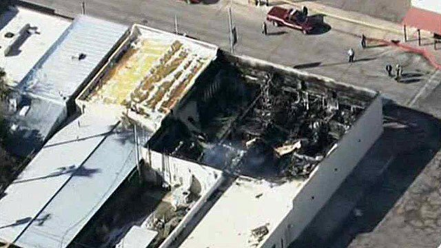 All of Pinal County's elections equipment was destroyed in a warehouse fire in Florence on Monday night. (Source: CBS 5 News)