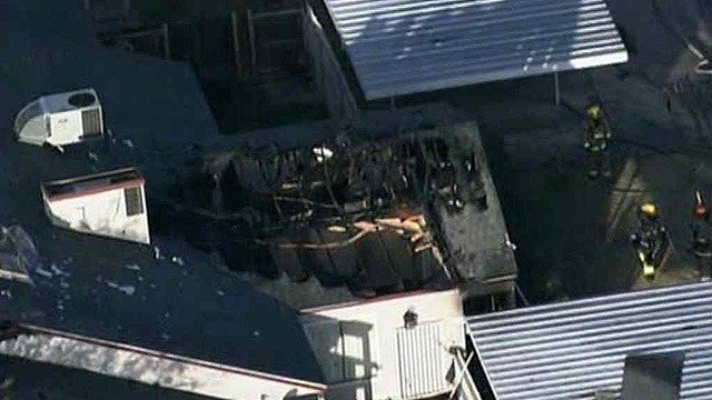 Phoenix firefighters were busy with a hot water heater fire that re-ignited Friday morning. (Source: CBS 5 News)