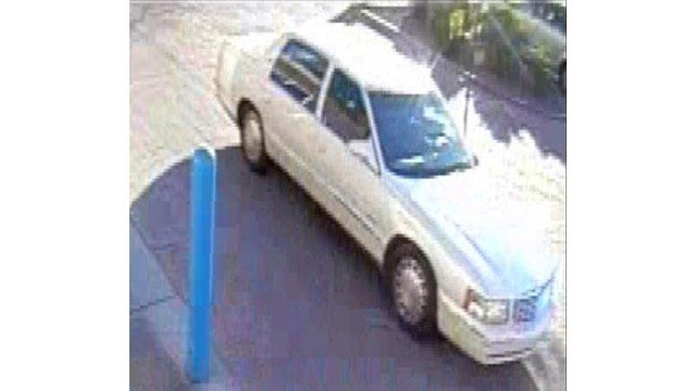 Glendale police said two men in this white sedan snatched a purse from a woman at a north Glendale Walmart in January. (Source: Glendale Police Department)
