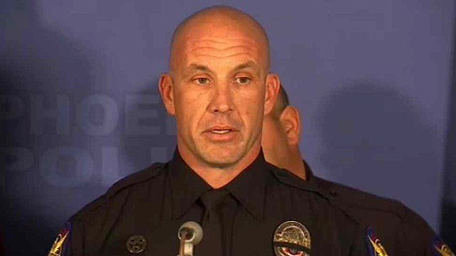 "Detective Cory Geffre said Hobbs ""was a great cop"" because he was a great man, husband and father. (Source: CBS 5 News)"
