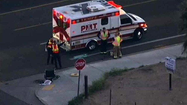 A person in a wheelchair was killed after being struck by a car in Tempe on Wednesday morning. (Source: CBS 5 News)