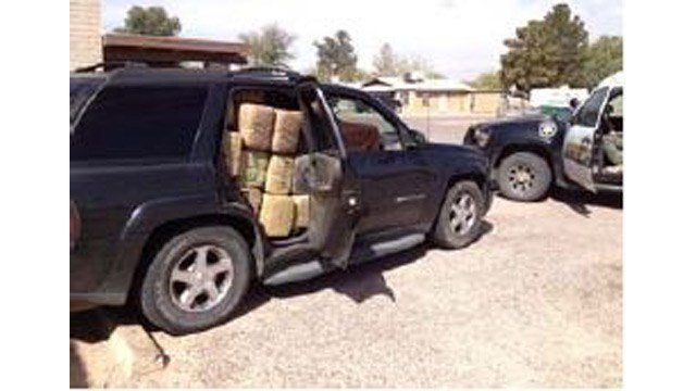 Pinal County sheriff's deputies seized almost 1,200 pounds of marijuana after a high-speed chase, but the driver escaped. (Source: Pinal County Sheriff's Office)