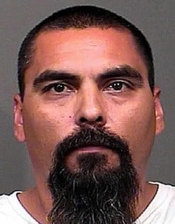 Lorenzo Hernandez III was booked into the Mohave County Jail after he allegedly shot as his wife and daughter as they drove away from their Mohave Valley home. (Source: Mohave County Sheriff's Office)