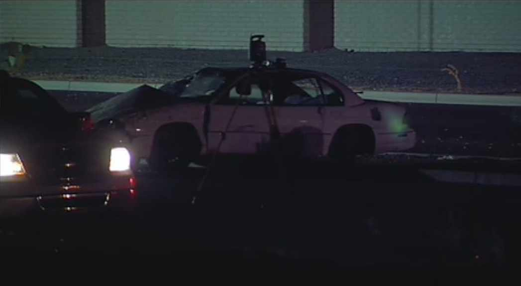 The man was driving a Chevrolet sedan at a high rate of speed west on Bell Road just west of Dell Web Boulevard in Sun City about 1 a.m. when he lost control, hit the median and rolled. (Source: CBS 5 News)