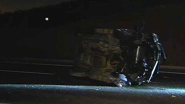 The driver of this SUV died when it crashed on McDowell Road near Papago Park early Thursday morning. (Source: CBS 5 News)