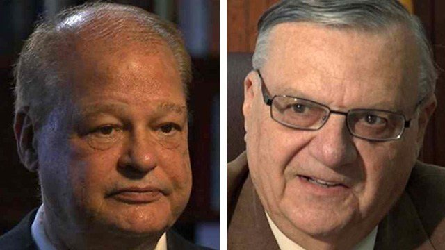Maricopa County Sheriff Joe Arpaio, right, has endorsed Arizona Attorney General Tom Horne's re-election campaign. (Source: CBS 5 News)