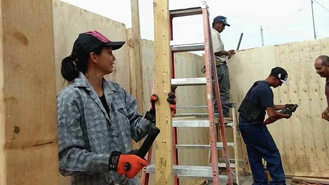 Ayonayon frequently helps build homes for people living in shacks with no electricity or water in Nogales  (Source: CBS 5 News)