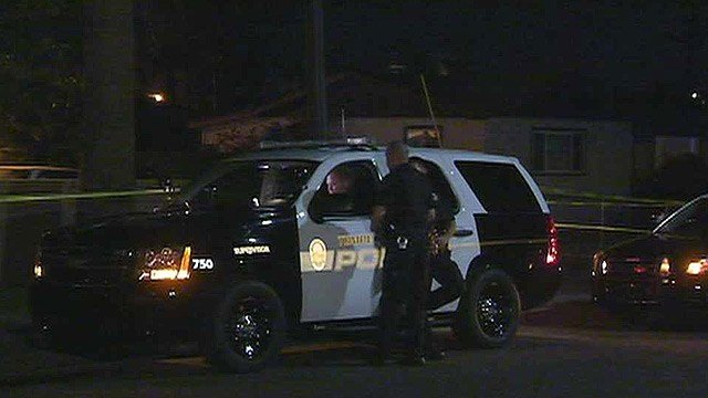 Tempe police were searching for a suspect in a Tuesday night shooting. (Source: CBS 5 News)