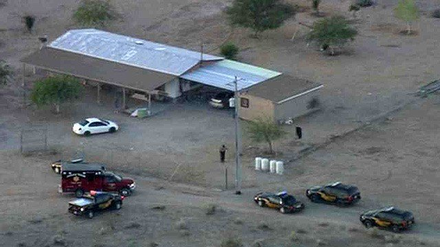 Maricopa County sheriff's deputies were investigating the shooting of a 9-year-old boy in a hunting accident in Tonopah on Wednesday morning. (Source: CBS 5 News)