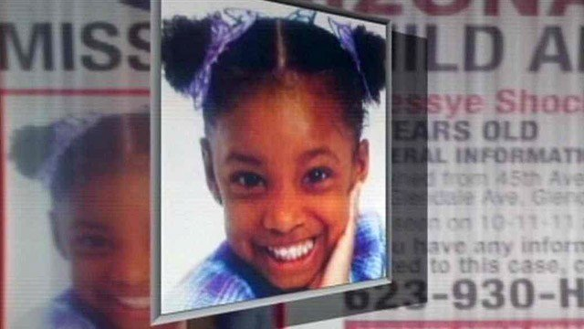 Jhessye Shockley, 5, was reported missing by her mother Oct. 11, 2011. Her body has never been found. (Source: CBS 5 News)