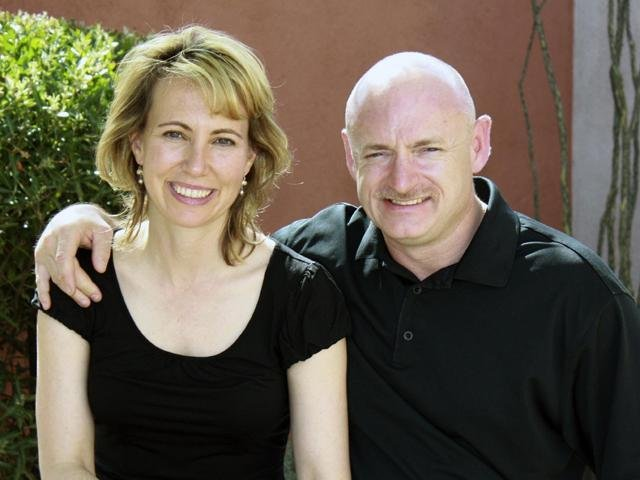 Gabrielle Giffords with husband astronaut Mark Kelly prior to the Tucson shooting