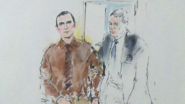 Sketch from Tucson federal court of Jared Lee Loughner.