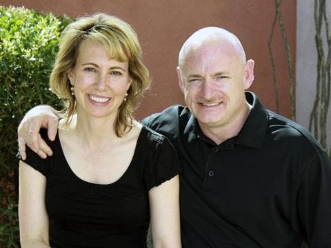 Gabby Giffords and husband, Mark Kelly