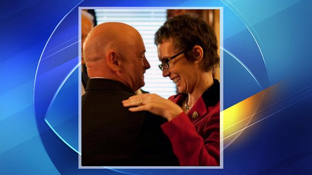 Gabrielle Giffords with husband Mark Kelly