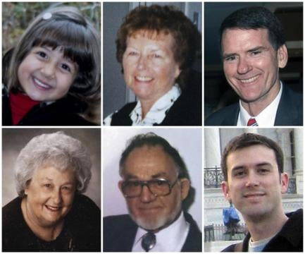 Victims killed in Tucson shooting on Jan. 8, 2011.