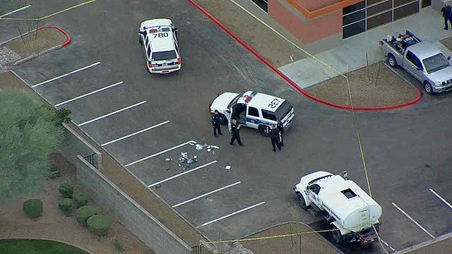 A Phoenix police officer was involved in a shooting early Thursday morning. (Source: CBS 5 News)