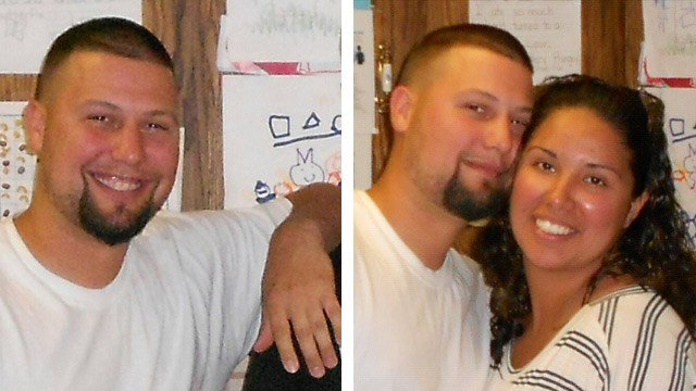 Johnathan Guillory, 32, is a military veteran who struggled with post-traumatic stress disorder, his wife, Maria Garcia, right, said. Guillory was shot and killed by Maricopa police officers Sunday. (Source: Guillory family photos)
