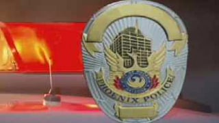 © police Phoenix badge and lights