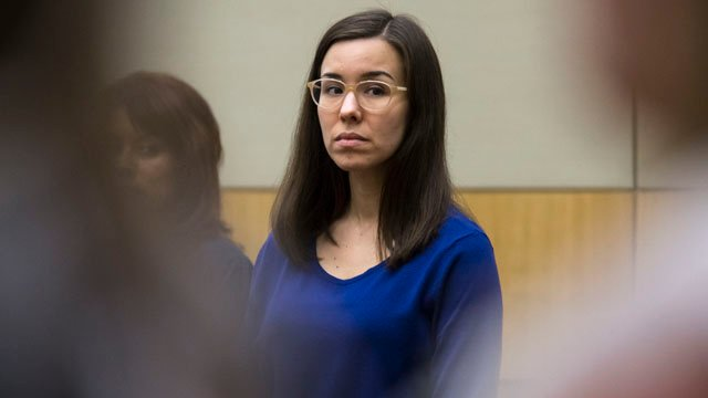 Jodi Arias, shown in court on Monday, Feb. 23, 2015, chose not to address the jury. (Source: CBS 5 News)