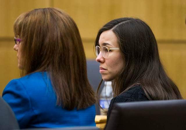 Jodi Arias as the judge read the verdict.