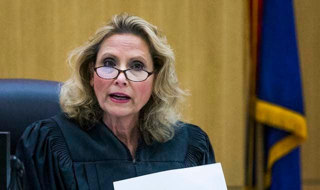 Judge Stephens reading the verdict
