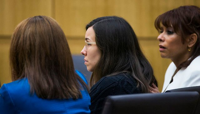 Jodi Arias as the judge read the verdict.