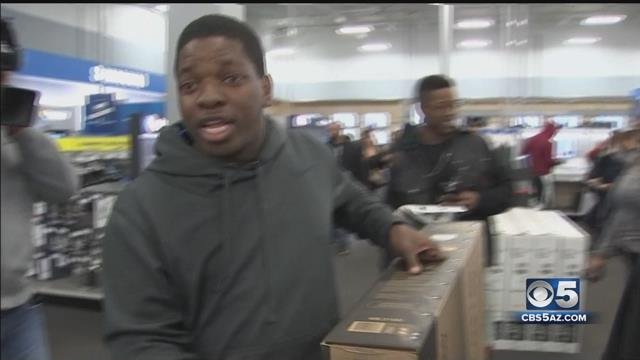 Black Friday shopper takes it to the next level