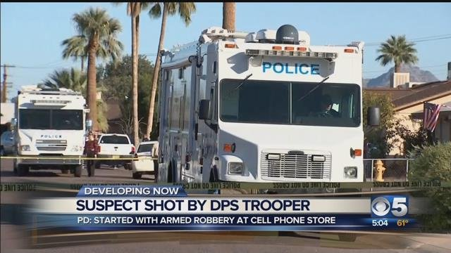 Officer shoots, wounds suspect in Phoenix