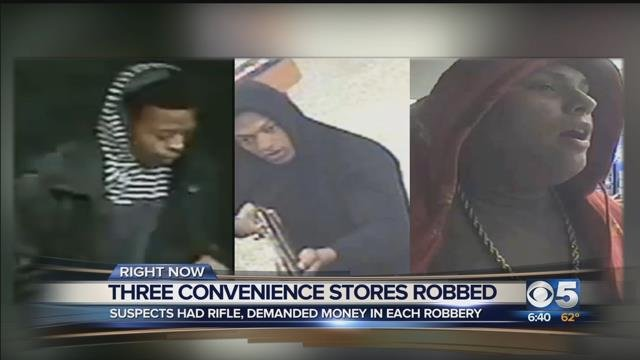 Phoenix police seek 3 armed robbers who targeted convenience stores