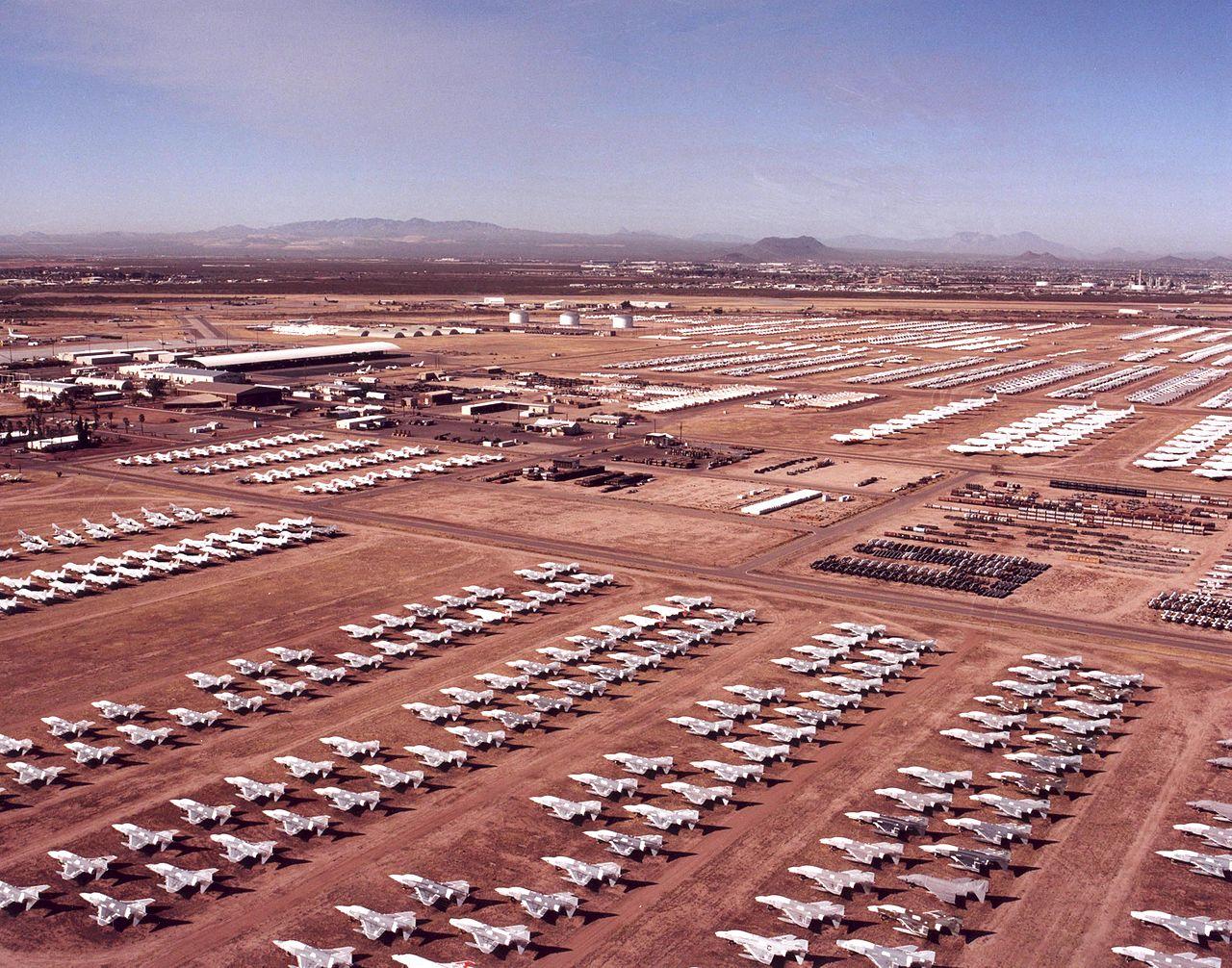 The 'Boneyard' at Davis Monthan Air Force Base (Source: Davis-Monthan Air Force base)