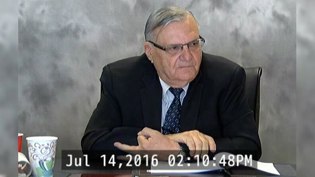 Several minutes of the nearly five-hour deposition of Maricopa County Sheriff Joe Arpaio in July were spent discussing his investigation of President Barack Obama. (Source: CBS 5 News)