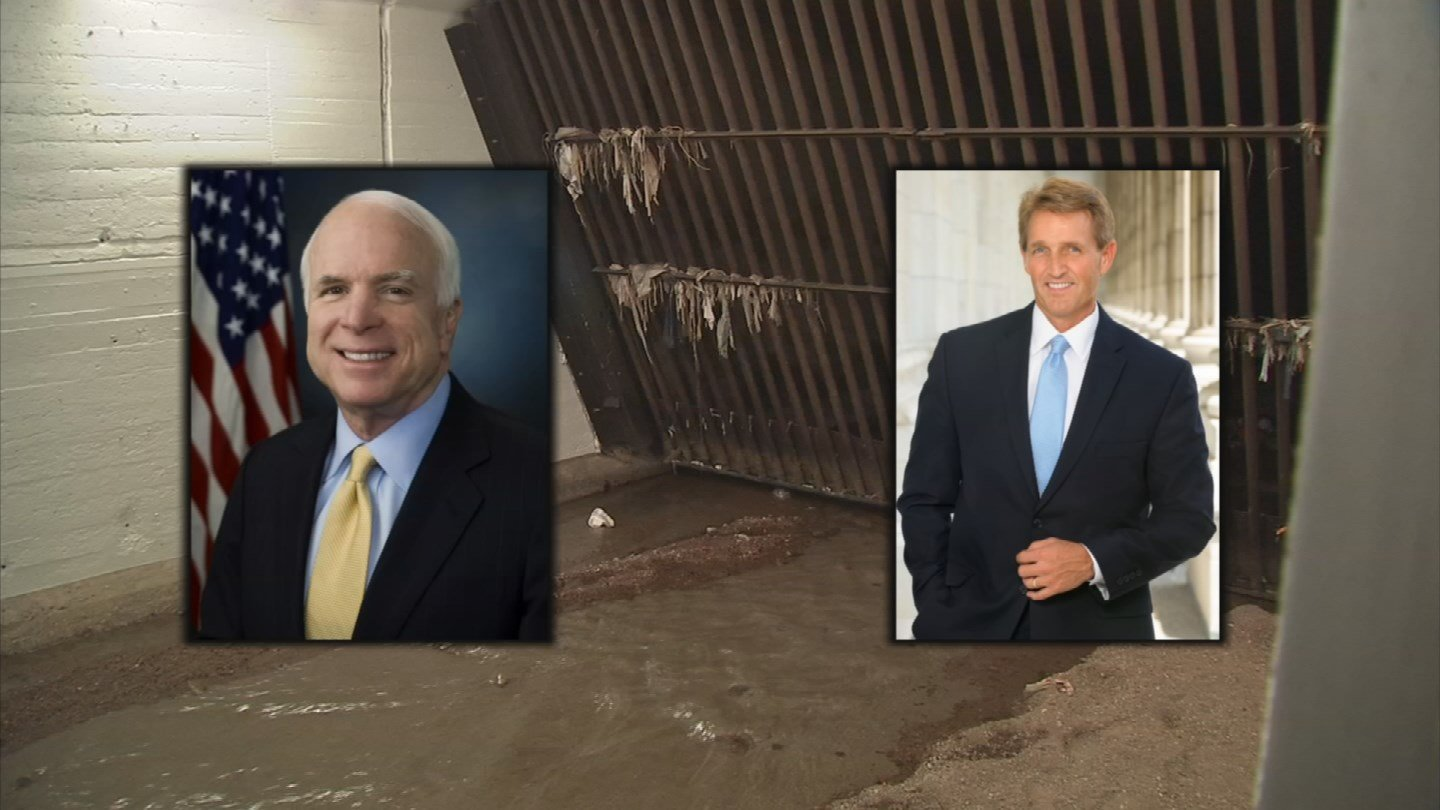 Sen. John McCain and Sen. Jeff Flake sent the federal government a letter about the tunnels concern. (Source: CBS 5 News)