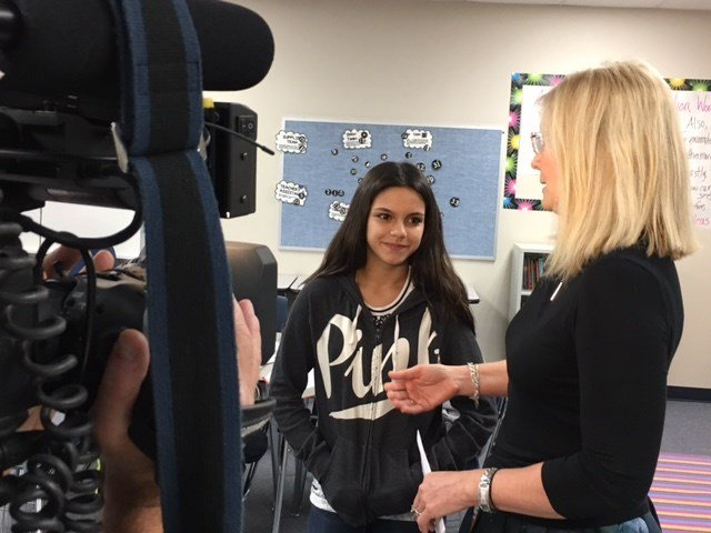 Shelby Jimenez, 13, is devoted to helping others. (Source: CBS 5 News)